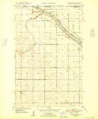 Bowbells NW North Dakota Historical topographic map, 1:24000 scale, 7.5 X 7.5 Minute, Year 1949