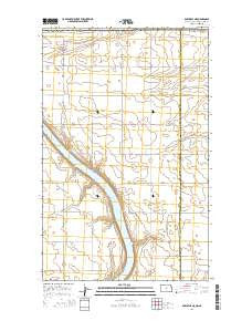 Bowbells NE North Dakota Current topographic map, 1:24000 scale, 7.5 X 7.5 Minute, Year 2014