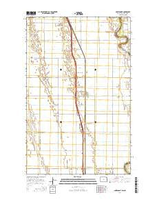 Bowesmont North Dakota Current topographic map, 1:24000 scale, 7.5 X 7.5 Minute, Year 2014