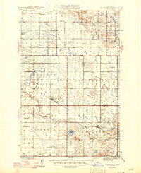 Brantford North Dakota Historical topographic map, 1:62500 scale, 15 X 15 Minute, Year 1946
