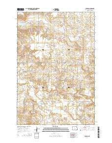 Burgess North Dakota Current topographic map, 1:24000 scale, 7.5 X 7.5 Minute, Year 2014