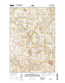 Burt NW North Dakota Current topographic map, 1:24000 scale, 7.5 X 7.5 Minute, Year 2014