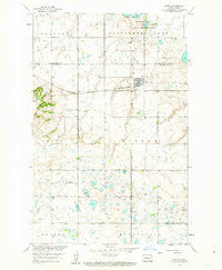 Butte North Dakota Historical topographic map, 1:24000 scale, 7.5 X 7.5 Minute, Year 1958