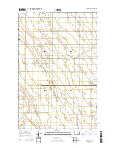 Buxton NW North Dakota Current topographic map, 1:24000 scale, 7.5 X 7.5 Minute, Year 2014
