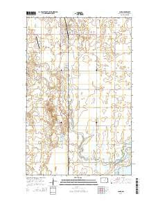 Cando North Dakota Current topographic map, 1:24000 scale, 7.5 X 7.5 Minute, Year 2014