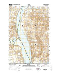 Cannon Ball North Dakota Current topographic map, 1:24000 scale, 7.5 X 7.5 Minute, Year 2014