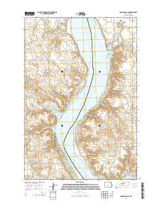 Cannon Ball SE North Dakota Current topographic map, 1:24000 scale, 7.5 X 7.5 Minute, Year 2014