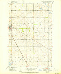 Carrington East North Dakota Historical topographic map, 1:24000 scale, 7.5 X 7.5 Minute, Year 1950