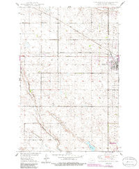 Carrington West North Dakota Historical topographic map, 1:24000 scale, 7.5 X 7.5 Minute, Year 1950