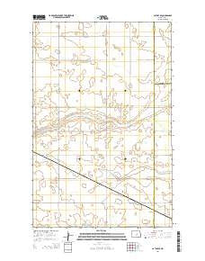 Cathay SE North Dakota Current topographic map, 1:24000 scale, 7.5 X 7.5 Minute, Year 2014
