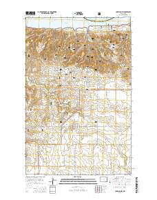 Charlson SW North Dakota Current topographic map, 1:24000 scale, 7.5 X 7.5 Minute, Year 2014
