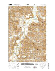 Chimney Butte North Dakota Current topographic map, 1:24000 scale, 7.5 X 7.5 Minute, Year 2014
