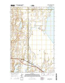 Churchs Ferry North Dakota Current topographic map, 1:24000 scale, 7.5 X 7.5 Minute, Year 2014