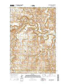 Clark Butte NW North Dakota Current topographic map, 1:24000 scale, 7.5 X 7.5 Minute, Year 2014