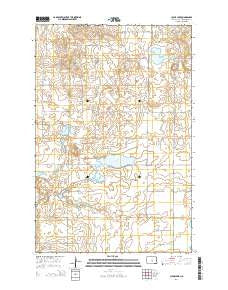 Clear Lake North Dakota Current topographic map, 1:24000 scale, 7.5 X 7.5 Minute, Year 2014