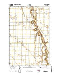 Climax NW North Dakota Current topographic map, 1:24000 scale, 7.5 X 7.5 Minute, Year 2014