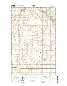 Columbus North Dakota Current topographic map, 1:24000 scale, 7.5 X 7.5 Minute, Year 2014