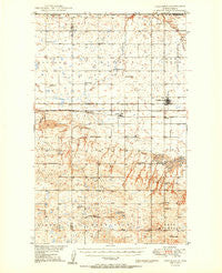 Columbus North Dakota Historical topographic map, 1:62500 scale, 15 X 15 Minute, Year 1950