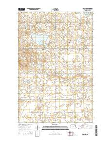 Comstock North Dakota Current topographic map, 1:24000 scale, 7.5 X 7.5 Minute, Year 2014