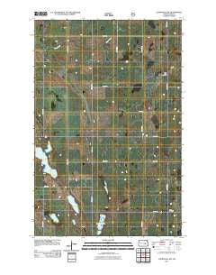 Courtenay NW North Dakota Historical topographic map, 1:24000 scale, 7.5 X 7.5 Minute, Year 2011
