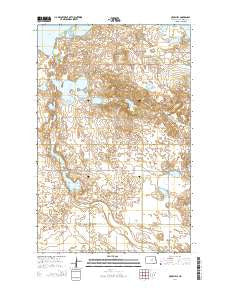 Crow Hill North Dakota Current topographic map, 1:24000 scale, 7.5 X 7.5 Minute, Year 2014