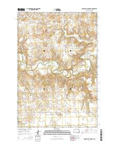 Crown Butte Creek SE North Dakota Current topographic map, 1:24000 scale, 7.5 X 7.5 Minute, Year 2014