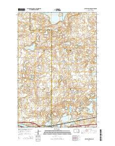Crystal Springs North Dakota Current topographic map, 1:24000 scale, 7.5 X 7.5 Minute, Year 2014