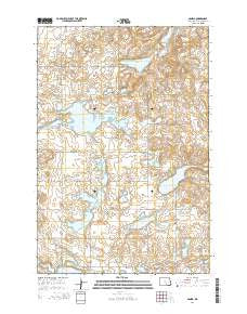 Danzig North Dakota Current topographic map, 1:24000 scale, 7.5 X 7.5 Minute, Year 2014
