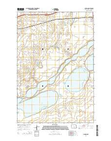 Dawson North Dakota Current topographic map, 1:24000 scale, 7.5 X 7.5 Minute, Year 2014
