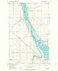 Deep North Dakota Historical topographic map, 1:24000 scale, 7.5 X 7.5 Minute, Year 1950
