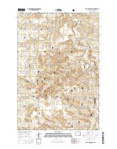Deep Creek South North Dakota Current topographic map, 1:24000 scale, 7.5 X 7.5 Minute, Year 2014