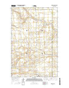 Deering SE North Dakota Current topographic map, 1:24000 scale, 7.5 X 7.5 Minute, Year 2014