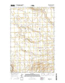 Deering SW North Dakota Current topographic map, 1:24000 scale, 7.5 X 7.5 Minute, Year 2014