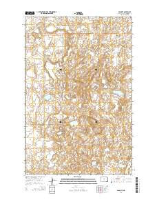 Denhoff North Dakota Current topographic map, 1:24000 scale, 7.5 X 7.5 Minute, Year 2014