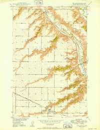 Des Lacs North Dakota Historical topographic map, 1:24000 scale, 7.5 X 7.5 Minute, Year 1950