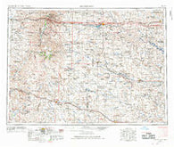 Dickinson North Dakota Historical topographic map, 1:250000 scale, 1 X 2 Degree, Year 1953