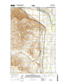 Dore North Dakota Current topographic map, 1:24000 scale, 7.5 X 7.5 Minute, Year 2014