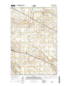 Drake North Dakota Current topographic map, 1:24000 scale, 7.5 X 7.5 Minute, Year 2014