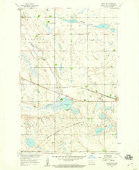 Drake NW North Dakota Historical topographic map, 1:24000 scale, 7.5 X 7.5 Minute, Year 1958