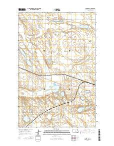 Drake NW North Dakota Current topographic map, 1:24000 scale, 7.5 X 7.5 Minute, Year 2014