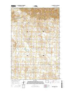 Dunn Center NE North Dakota Current topographic map, 1:24000 scale, 7.5 X 7.5 Minute, Year 2014