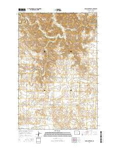 Dunn Center NW North Dakota Current topographic map, 1:24000 scale, 7.5 X 7.5 Minute, Year 2014