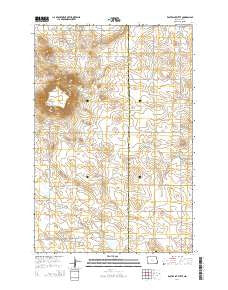 East Rainy Butte North Dakota Current topographic map, 1:24000 scale, 7.5 X 7.5 Minute, Year 2014
