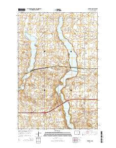 Eckelson North Dakota Current topographic map, 1:24000 scale, 7.5 X 7.5 Minute, Year 2014