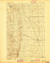 Edgeley North Dakota Historical topographic map, 1:125000 scale, 30 X 30 Minute, Year 1896