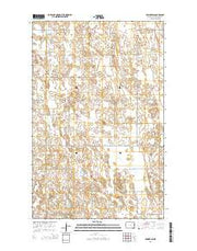 Edmore SW North Dakota Current topographic map, 1:24000 scale, 7.5 X 7.5 Minute, Year 2014 from North Dakota Maps Store