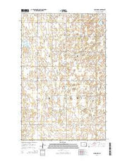 Egeland SE North Dakota Current topographic map, 1:24000 scale, 7.5 X 7.5 Minute, Year 2014 from North Dakota Maps Store