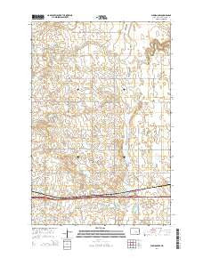 Eldridge NW North Dakota Current topographic map, 1:24000 scale, 7.5 X 7.5 Minute, Year 2014