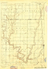 Ellendale South Dakota Historical topographic map, 1:62500 scale, 15 X 15 Minute, Year 1894