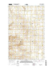 Epping NE North Dakota Current topographic map, 1:24000 scale, 7.5 X 7.5 Minute, Year 2014
